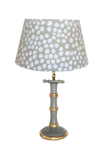 Bamboo Candle Stick  Lamp in Grey