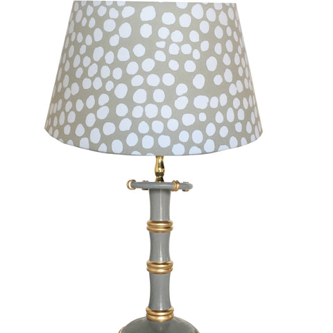 Dana Gibson Bamboo Candle Stick  Lamp in Grey