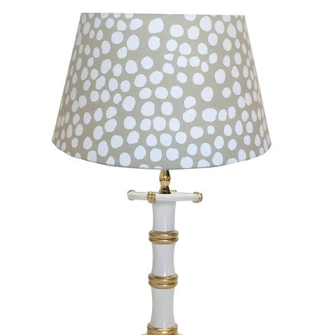 Bamboo Candle Stick  Lamp by Dana Gibson in White