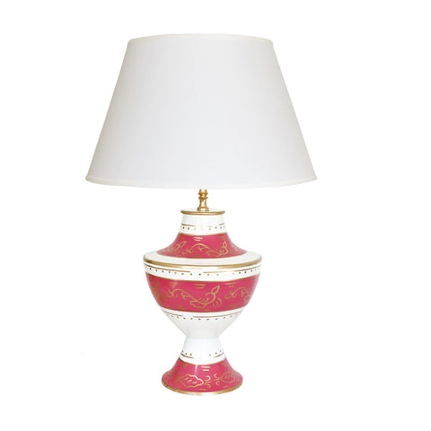 Klismos Lamp in Jules Pink Lamp