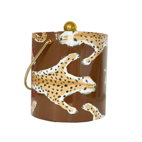 Dana Gibson Brown Leopard  Ice Bucket
