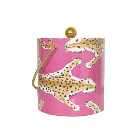Pink Leopard Ice Bucket