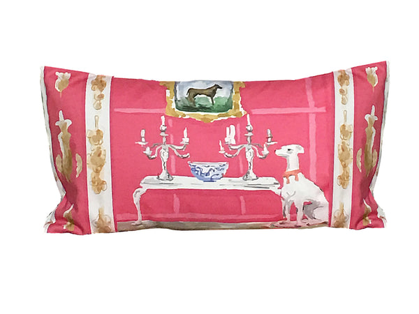 Pink Dog Pillow