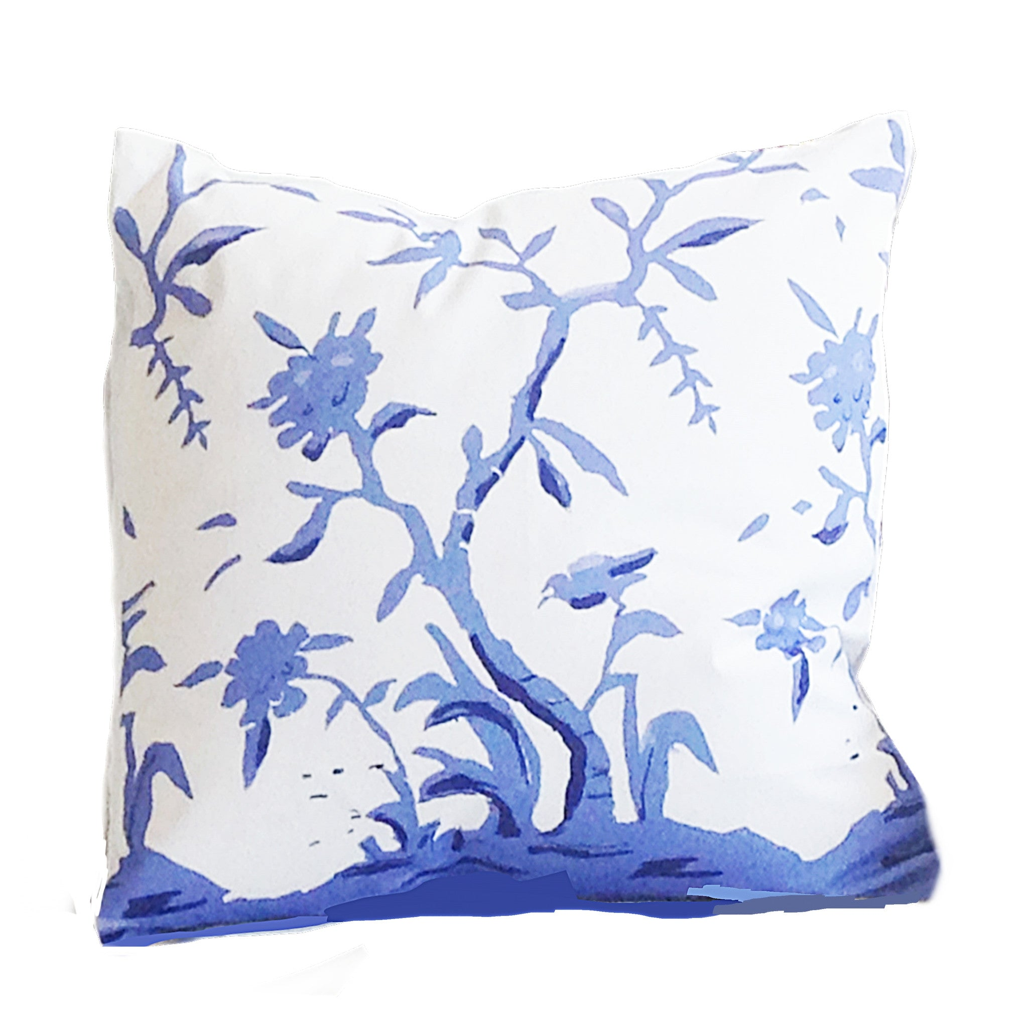 "Cliveden in Blue  22"" Pillow"
