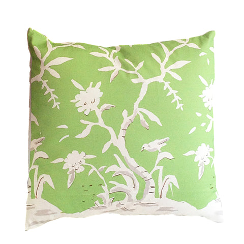 "Cliveden in Green  22"" Pillow"