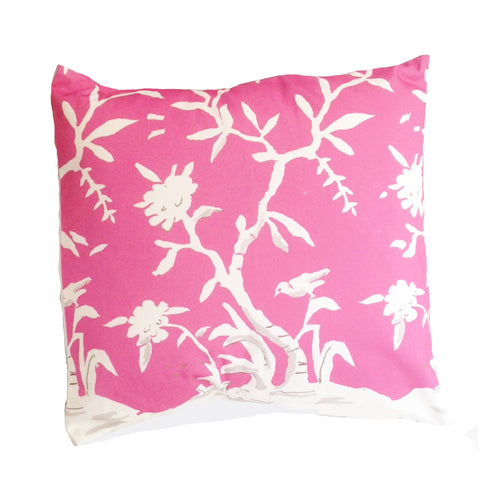 "Cliveden in Pink 22"" Pillow"