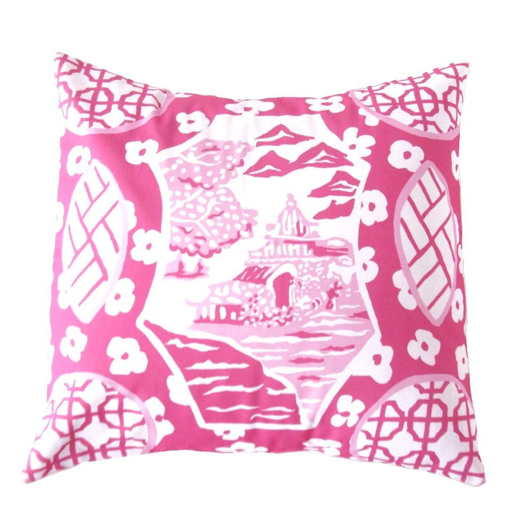 "Canton in Pink 22"" Pillow"