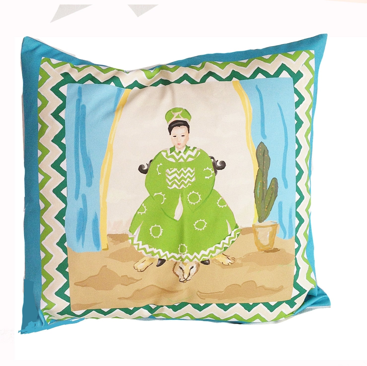 Empress Pillow in Turquoise