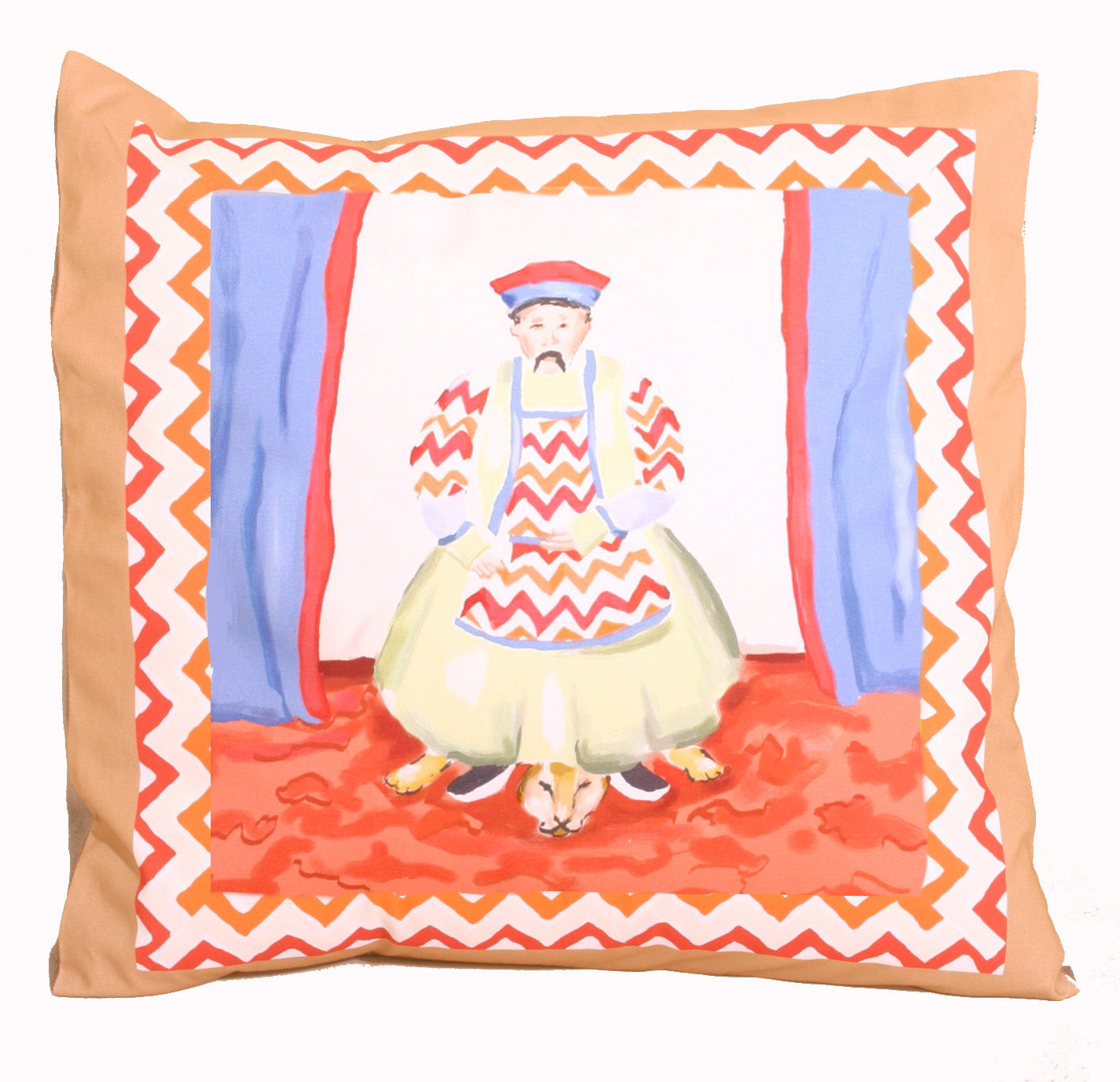 Emperor + Empress Pillow in Tan