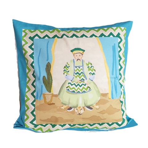 Emperor  Pillow in Turquoise