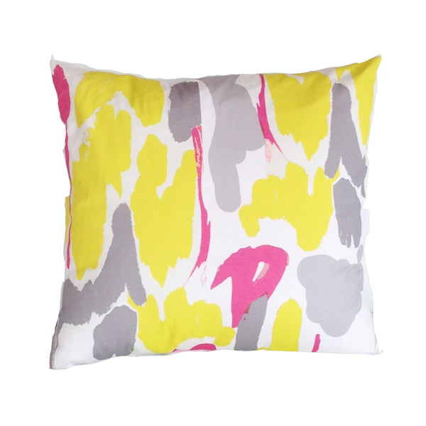 "Modern Art in yellow 22"" Pillow"