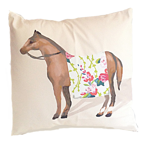 "Show Horse in Chintz   22"" Pillow"