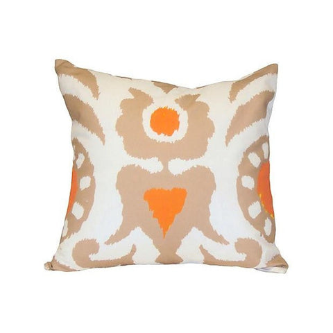 "Taupe Agra 22"" Pillow"