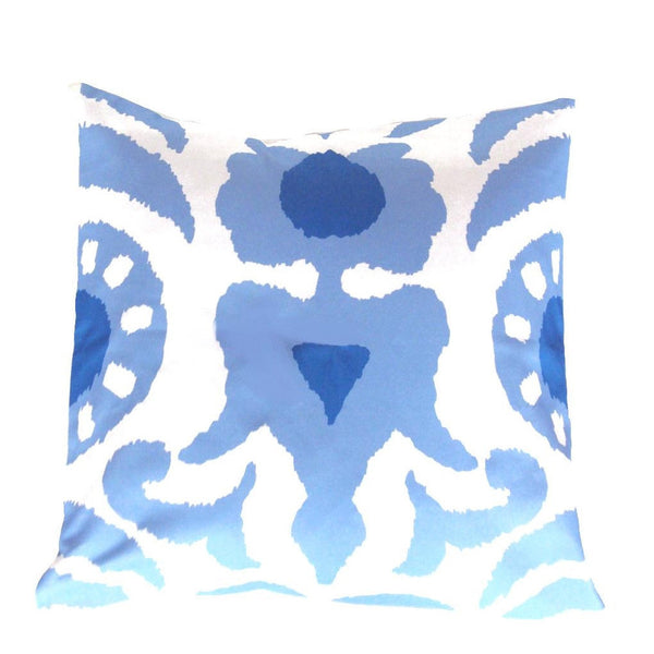 "Dana Gibson  Blue Agra 22"" Pillow"