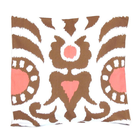 "Brown Agra 22"" Pillow"