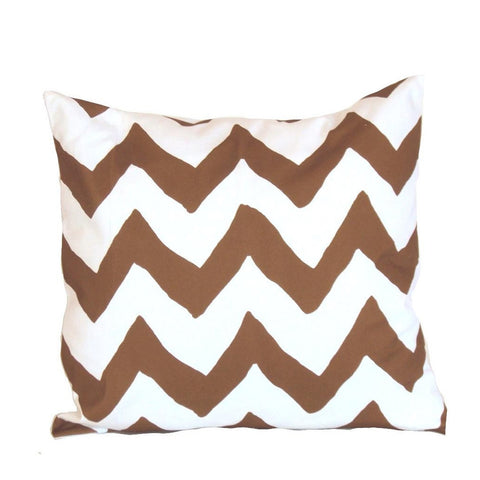 "Brown Bargello 22"" Pillow"