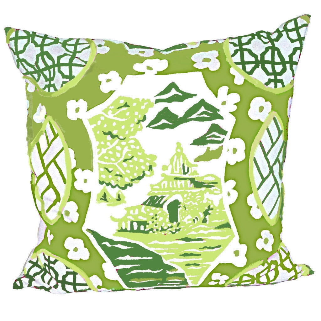 Canton in Green Pillow