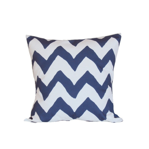 "Navy Bargello 22"" Pillow"
