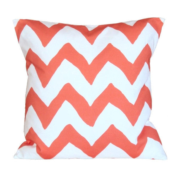 "Orange Bargello 22"" Pillow"