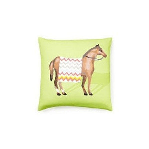Show Horse Pillow in Green