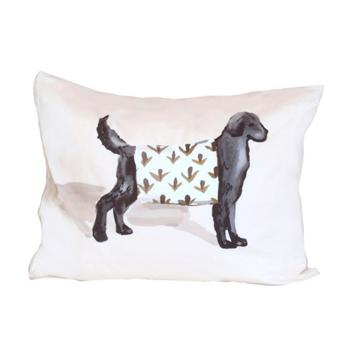 Black Dog Pillow