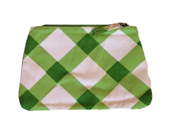 Gingham in Green  Travel Bag, Small or Large