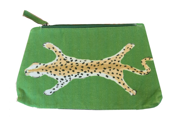 Green Leopard Travel Bag