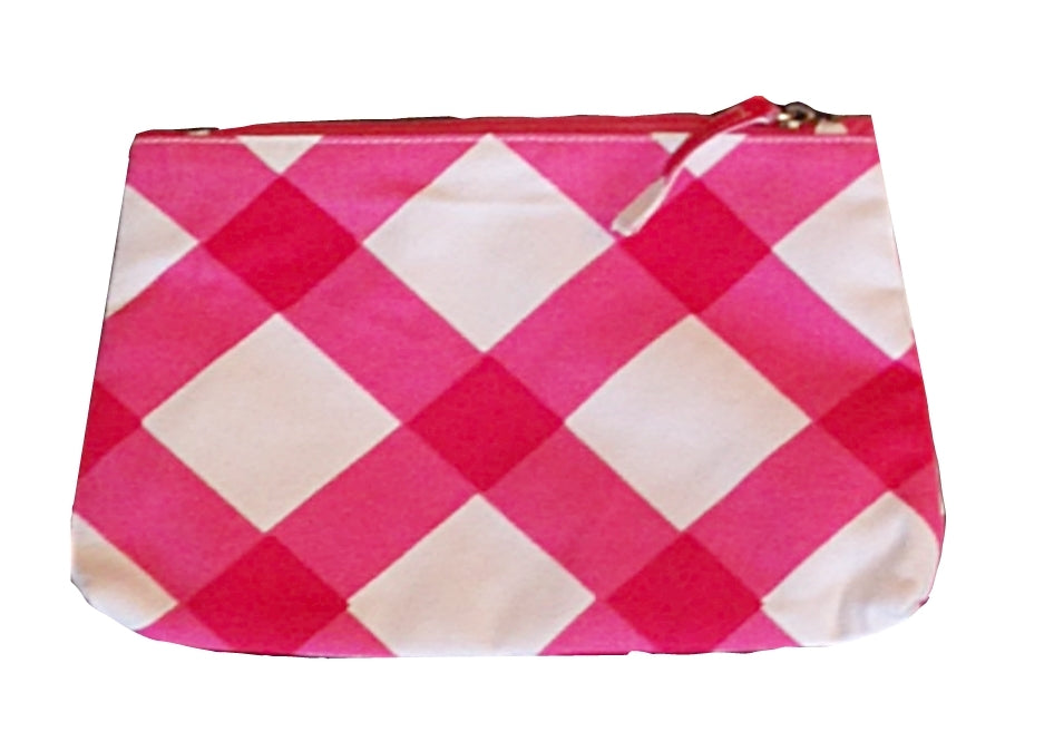 Gingham in Pink  Travel Bag, Small or Large