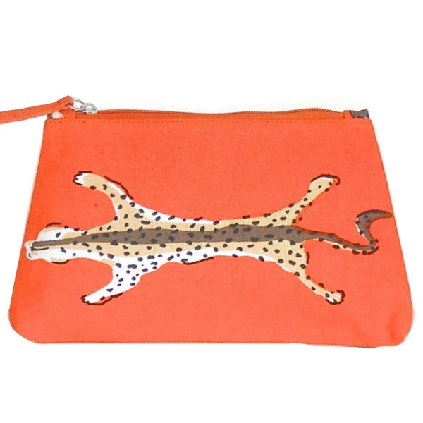 Orange Leopard Travel Bag