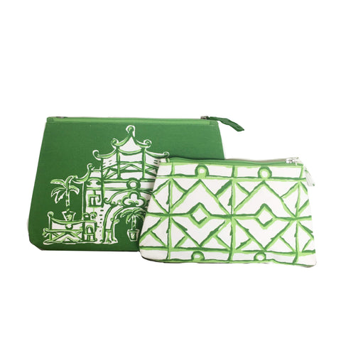 Silk Road Travel Bag in Green and Twiggy in Green