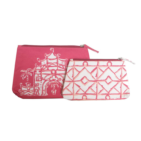 Silk Road Travel Bag in Pink and Twiggy in Pink