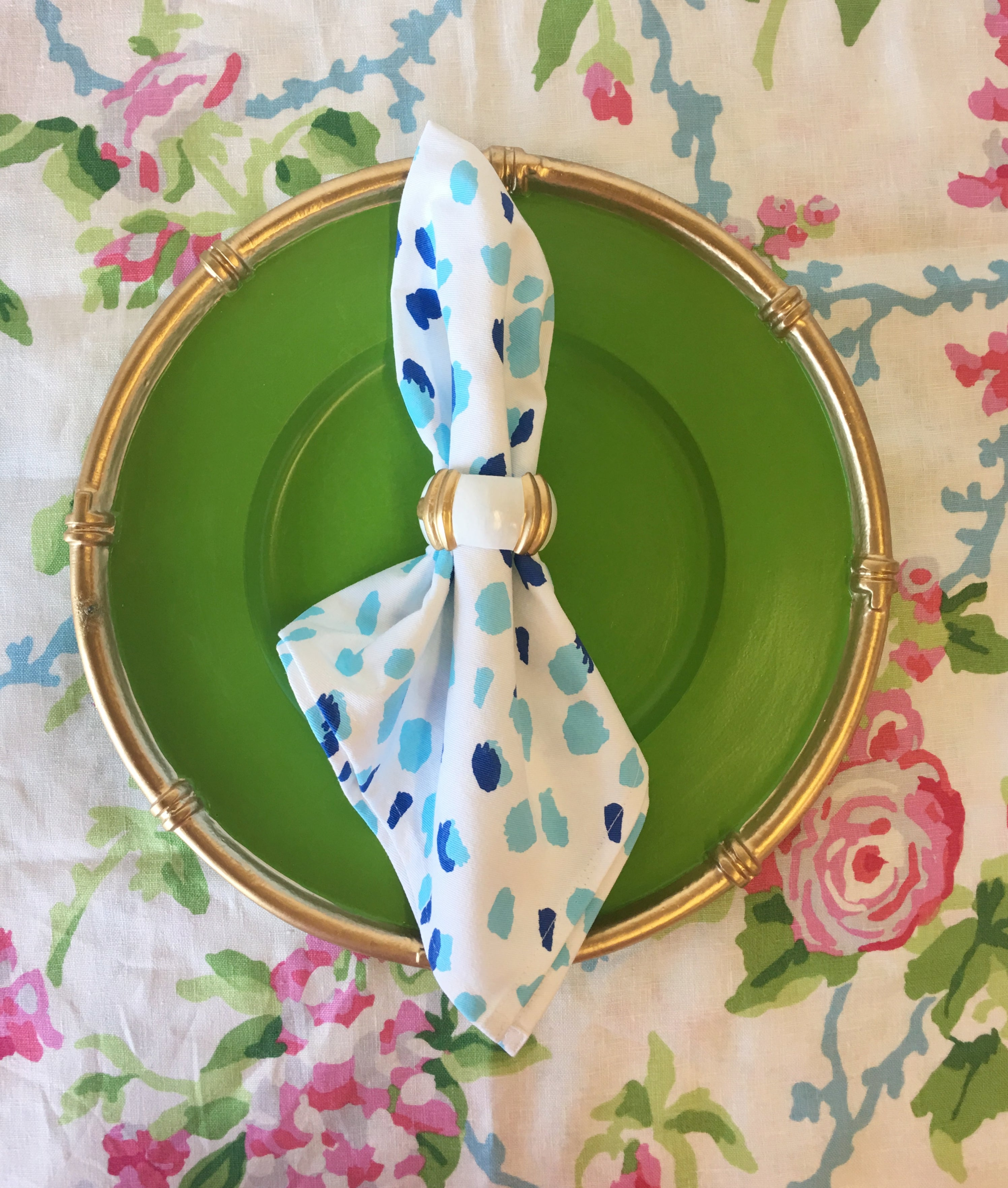 Fleck Napkin in Blue/Set of 4