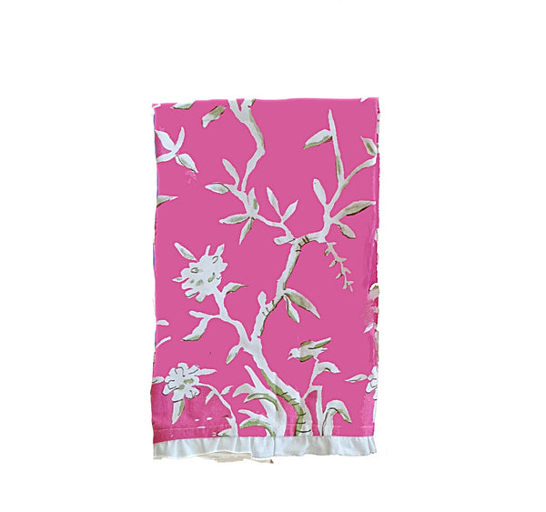 Cliveden Tea Towel in Pink