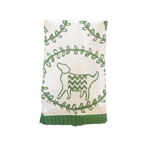 Green Dog Tea Towel