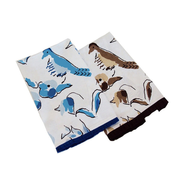 Peregrine Tea Towel, Brown or Blue