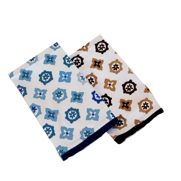 Voy Tea Towel, Blue or Brown