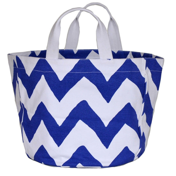 Navy Bargello Bucket Tote