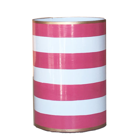 Pink Stripe Pen Cup