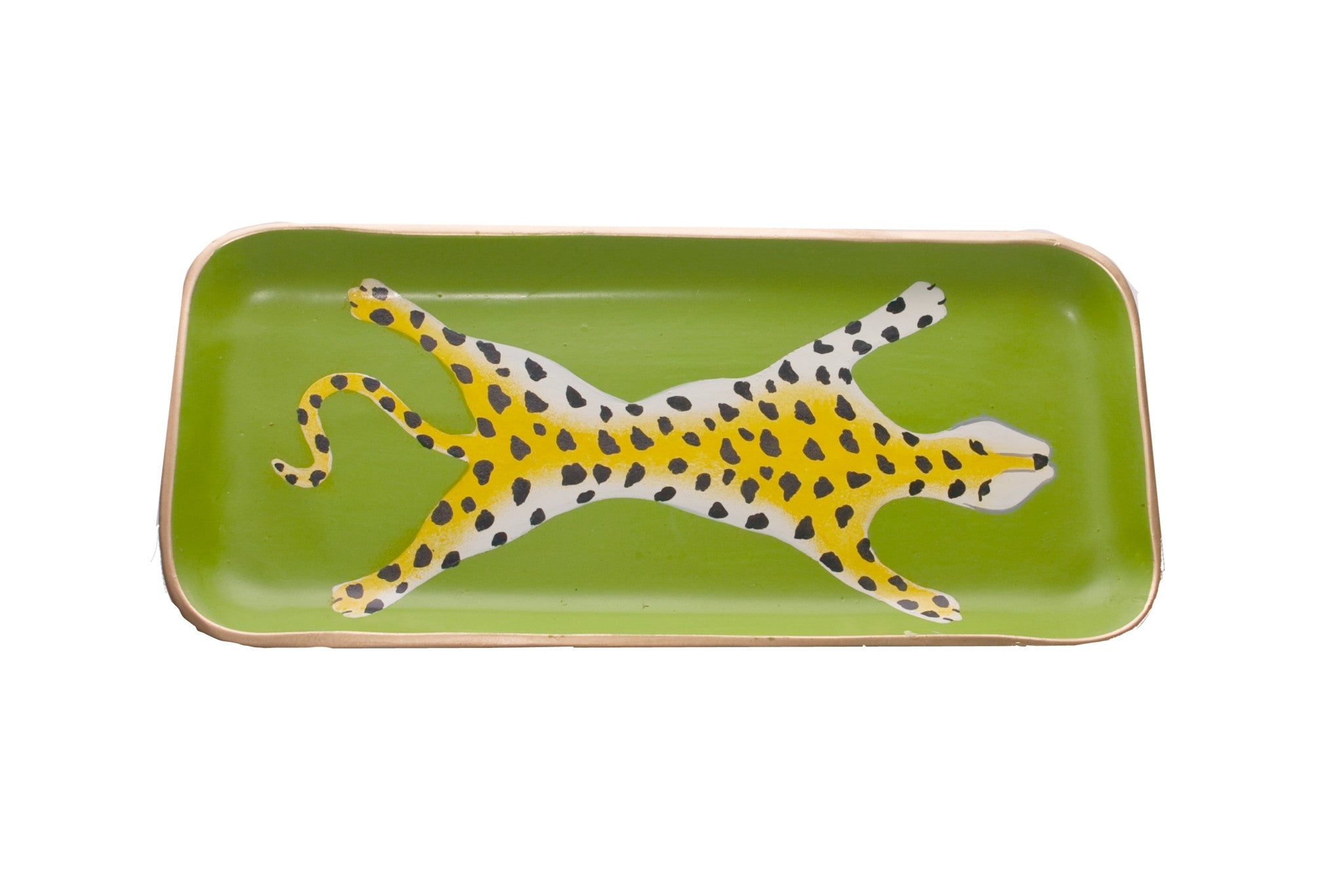Green Leopard Tray, Small