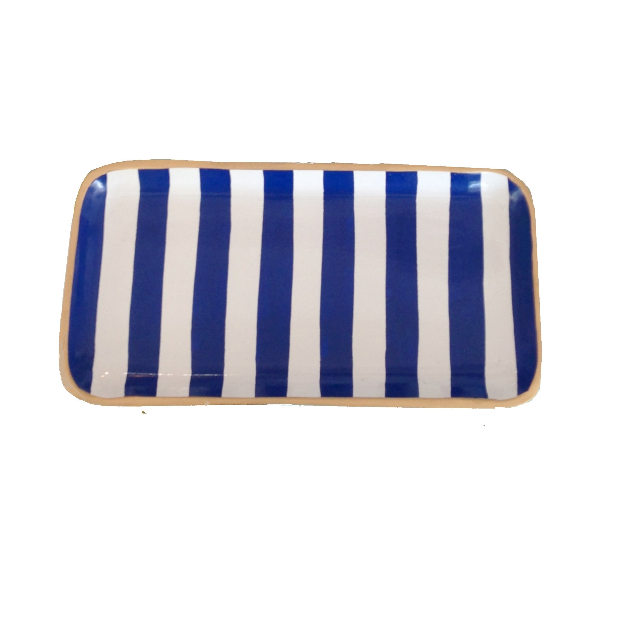 Navy Stripe Tray