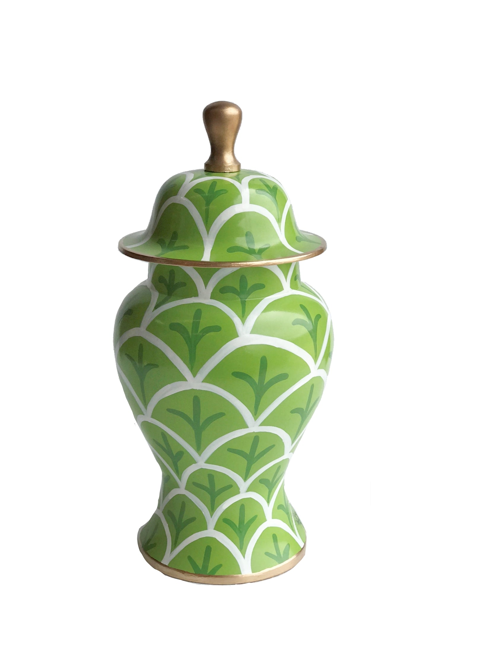 Green  Bedford Ginger Jar, Small