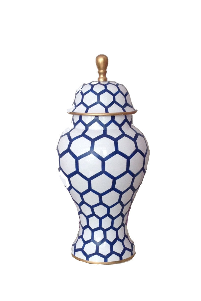 Ginger Jar, Small in Blue  Mesh