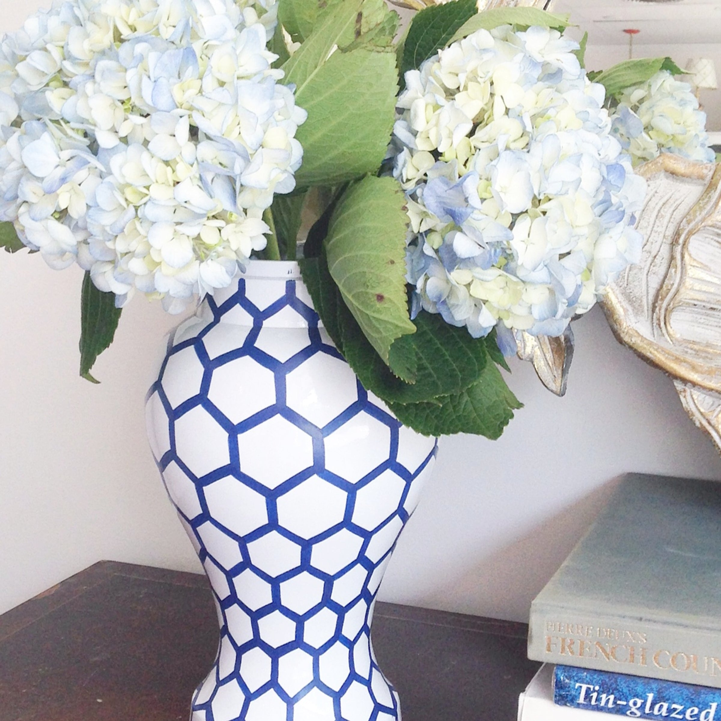 Blue Mesh Ginger Jar Jar