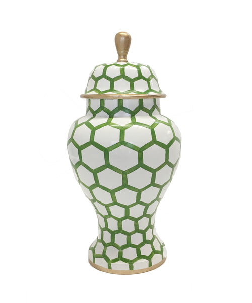 Ginger Jar, Small in Green Mesh
