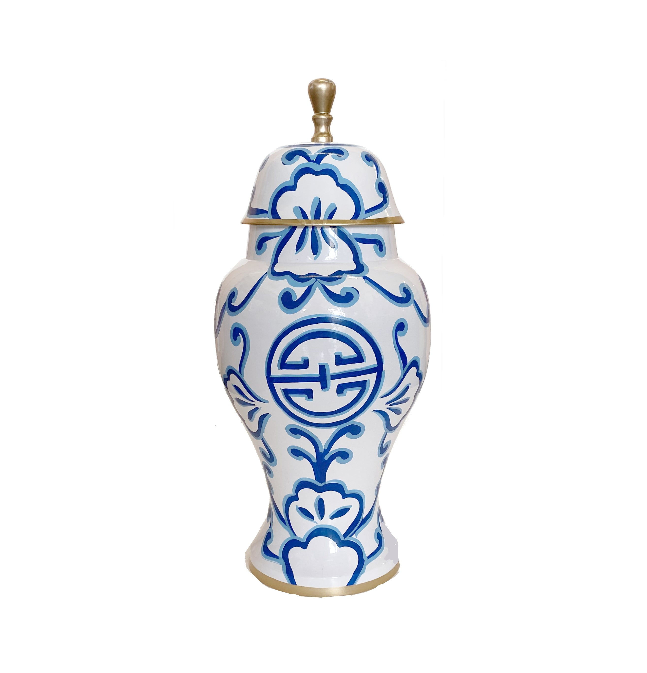 Sultan in Navy Ginger Jar, Small