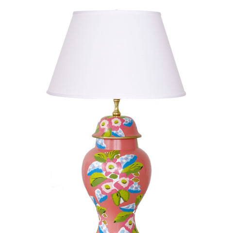 Elsie in Coral Lamp