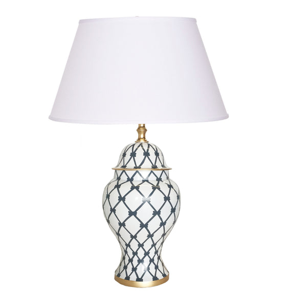 French Twist in Grey Table Lamp