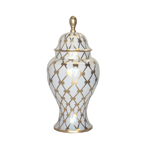 Medium Ginger Jar, French Twist in Gold