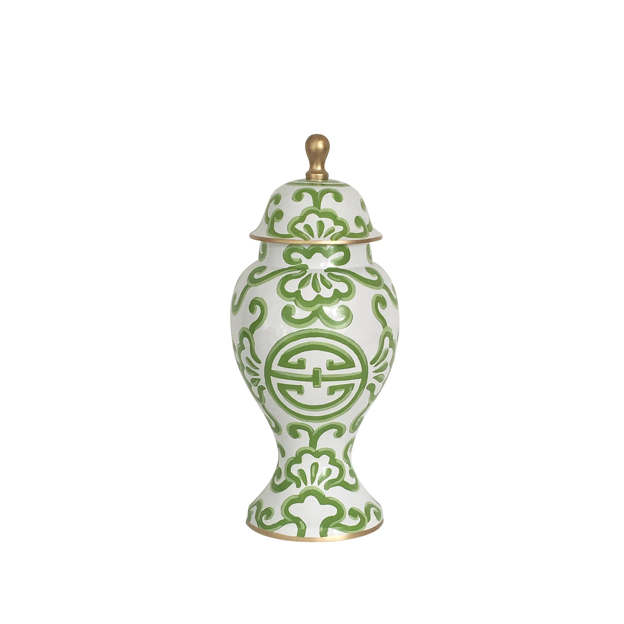 Medium Ginger Jar, Green Sultan