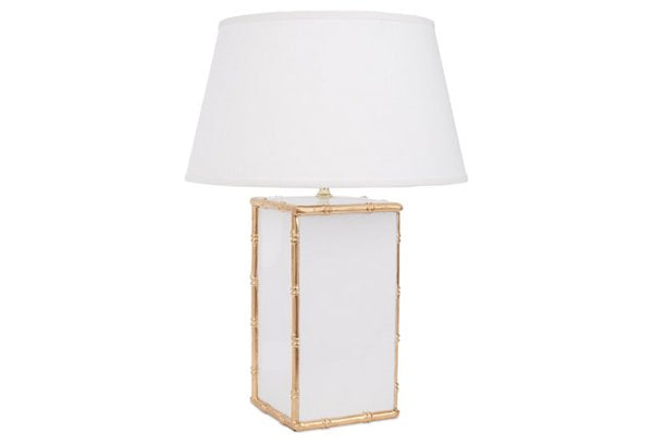 Bamboo in White Lamp